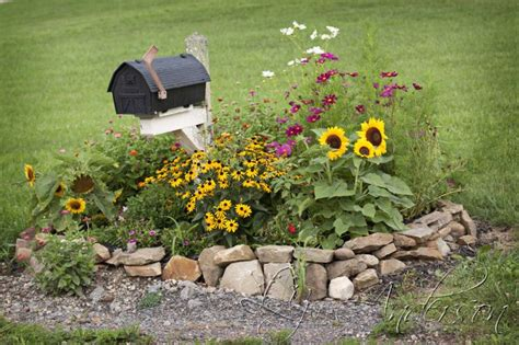 mailbox flower bed summer farm and garden pictures flower beds beds and flower