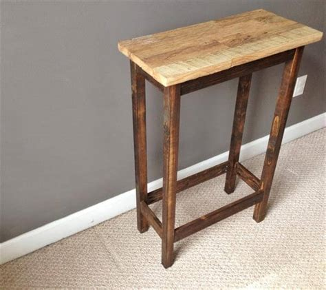 diy side table salvaged pallet rustic side table pallet furniture diy