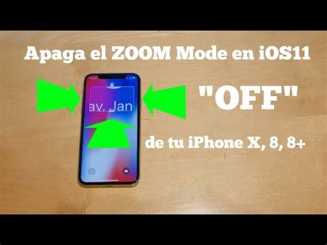 como eliminar el zoom mode de ios en tu iphone