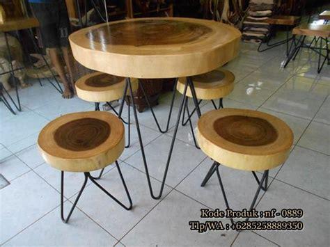 desain meja cafe unik meja kursi cafe kayu solid furniture jepara nirwana