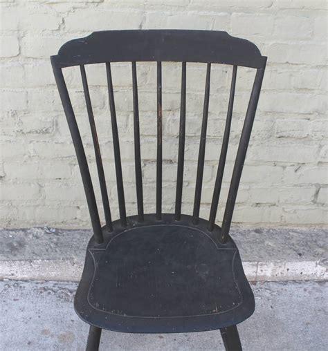 black windsor bench original black painted step down new england windsor chair