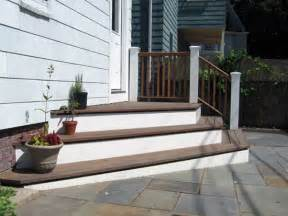 Back Porch Stairs Design Possible Solution To Raised Back Door Backyard Doors Patios And Decking