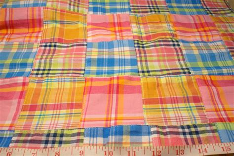 Madras Patchwork Fabric - patchwork madras fabric madras plaids