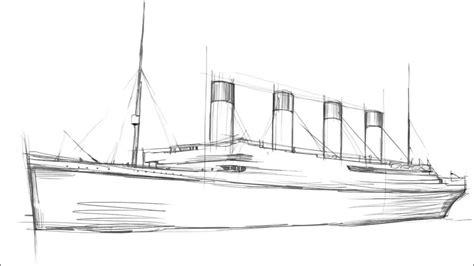 titanic boat sketch how to draw titanic youtube