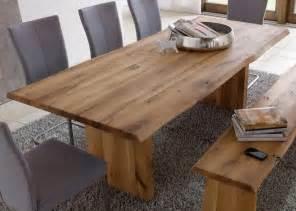 tisch wildeiche massiv echtholz tisch esstisch mit wangenfuss 240x100cm wildeiche