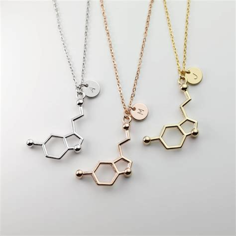 Best Jewelry by Serotonin Initial Necklace Personalized Best Friend Jewelry