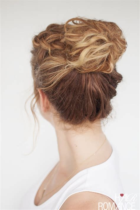 hairstyles everyday updos everyday curly hairstyles curly braided top knot