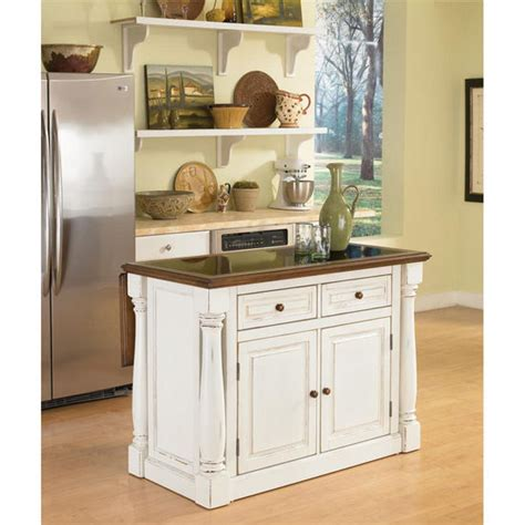 white kitchen island with top home styles monarch kitchen island with granite top and