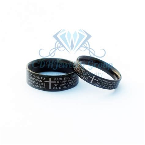 Cincin Pasangan Titanium Kode Gs2019 Black cincin black cross ring cincin titanium model anti karat anti hitam