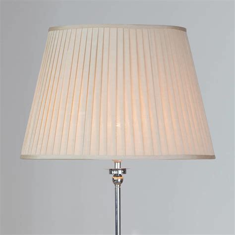 large floor l shades round easy to fit knife pleated shade 20 inch gold from