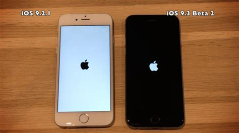 iphone 5 vs iphone 5s ios 9 3 beta 2 vs ios 9 2 1 on iphone 6 5s 5 4s
