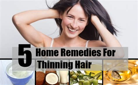 5 home remedies for thinning hair treatments