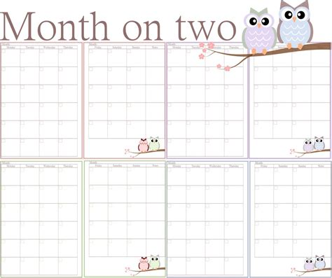two page monthly calendar template two month calendar templates free 2017 calendar printable
