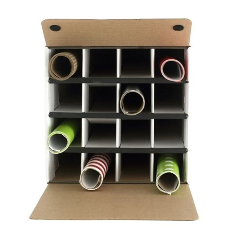 Document and Gift Wrap Paper Roll Storage Organizer in