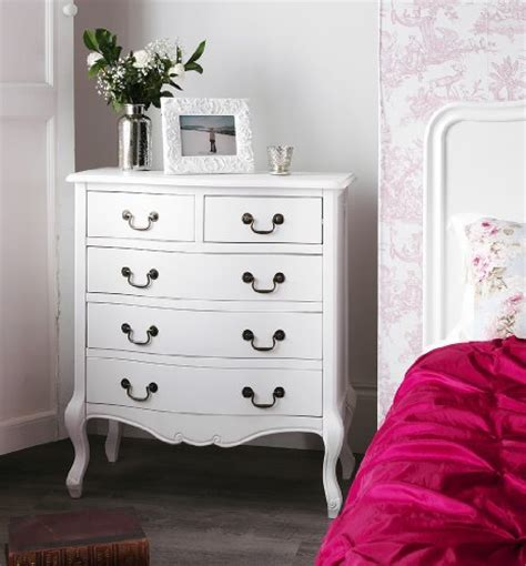 juliette shabby chic white double bed 5pc bedroom suite
