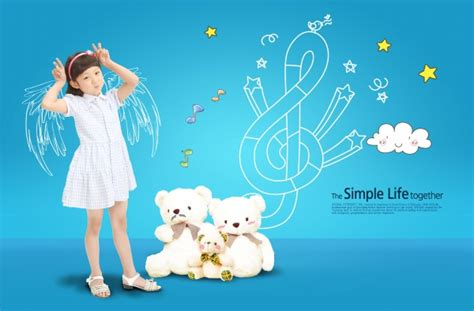 Child Angel PSD poster   Free download