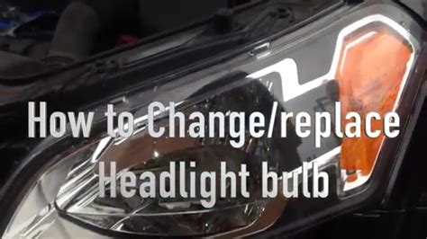 how to change head light bulb on a 1996 chrysler new yorker how to change replace headlight bulb from kia soul 2010 youtube