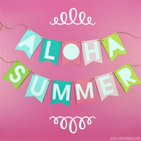 Aloha Summer Banner Vicky Barone Aloha Banner Template