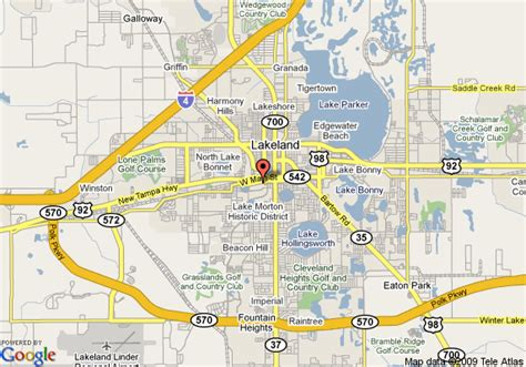 florida map lakeland map of hyatt place lakeland center lakeland