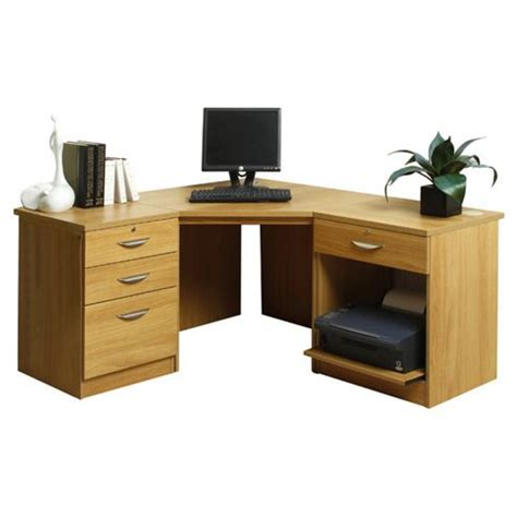 desk with printer storage buy enduro home office desk workstation with pedestal