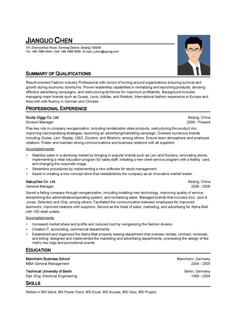 general manager resume template resume template psd general manager