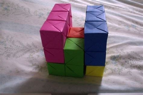 Origami Soma Cube - origami soma cube 183 a puzzle 183 papercraft paper folding