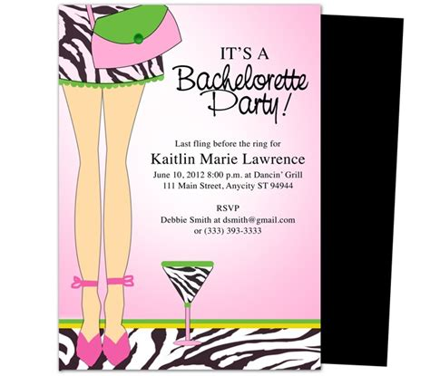bachelor invitation templates bachelorette invite template best template collection