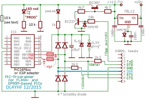 serial port pic programmer circuit diagram pic programmer for windows help index