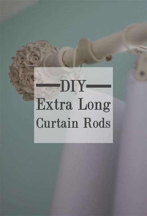 diy extra long curtain rod diy inexpensive custom curtain rods creative house blog