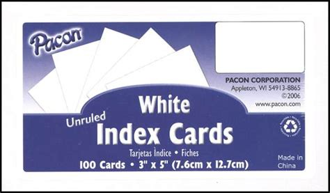 3 x 5 index card template publisher index cards 3 x 5 blank white set of 100 043861