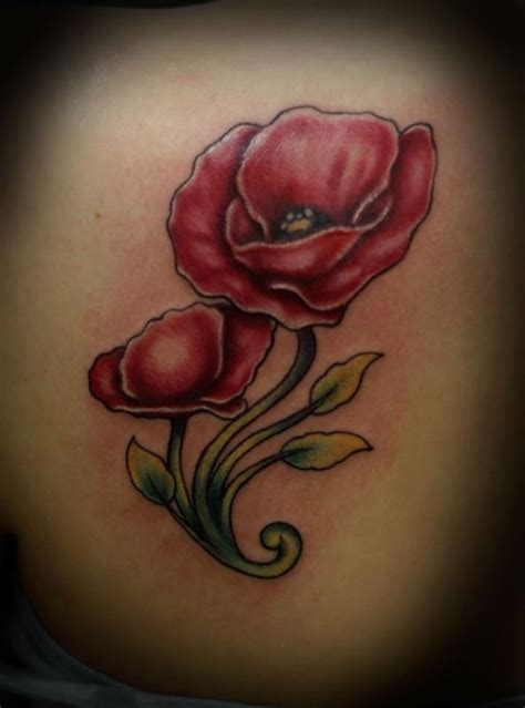 tattoo online gallery popply flower by nathan boon tattoonow