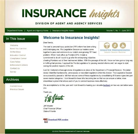 Insurance Newsletter The Pulse May 2012 Welcome