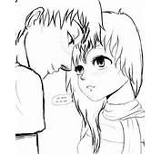 Wade And Luna OC Manga Couple SKETCH By SylunaHirokashi On