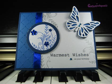 Handmade Butterfly Cards - handmade butterfly card quot blue imagination quot from coco