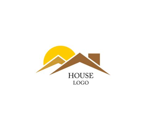 house logo design vector sun house building construction vector logo inspiration vector logos free