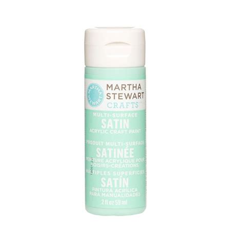 martha stewart crafts 2 oz glass multi surface satin acrylic craft paint 32012 the home