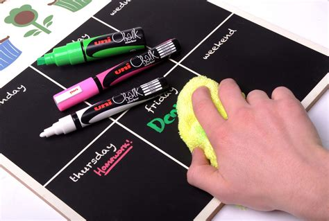 chalkboard paint pen removal uni chalk 8 pack assorted pwe 5m chalk markers