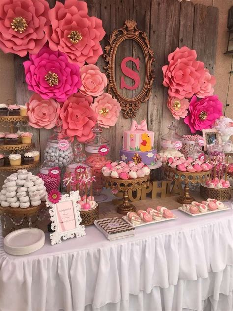 girl baby shower table decorations floral baby shower baby shower party ideas baby shower