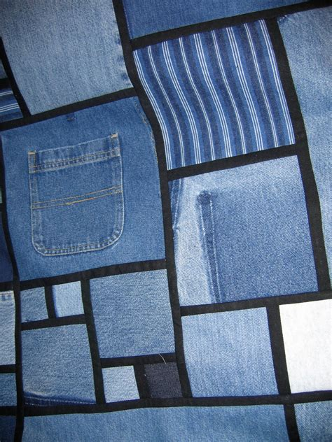 Denim Quilts by Quilt Inspiration Stained Glass Quilts From Denim