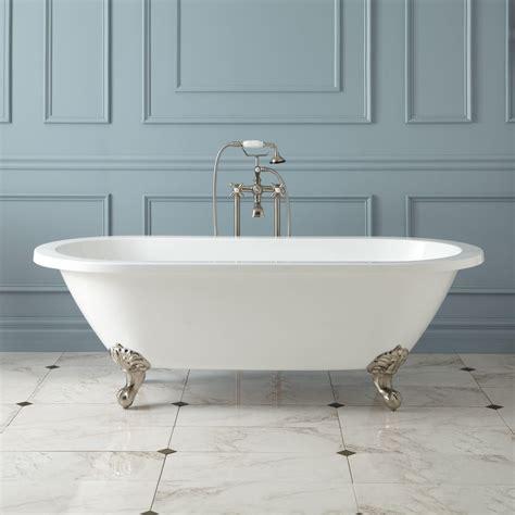 Claw Footed Bathtubs zoey acrylic clawfoot tub imperial clawfoot tubs
