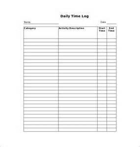 Daily Work Tracker Template by Time Log Template 10 Free Word Excel Pdf Documents