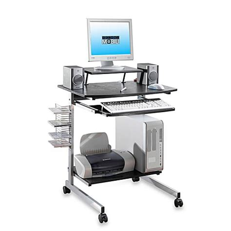 Silver And Black Computer Desk Bed Bath Beyond