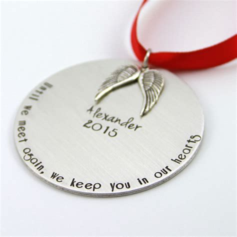 personalized memorial ornament christmas gift in memory of