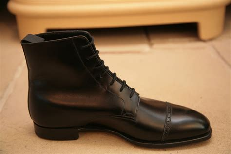 Handmade Dress Boots - handmade mens oxford dress boot black lace up ankle