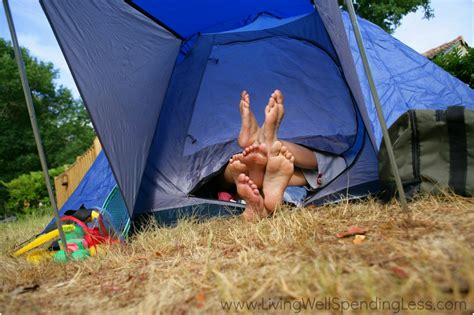 Camping In Your Backyard Awesome Staycation Ideas Staycation Tips
