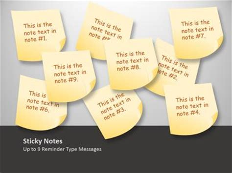 powerpoint notes template sticky note tool kit a powerpoint template from