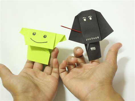 Origami Wars Finger Puppets - c 243 mo hacer t 237 teres de dedo origami de personajes de la