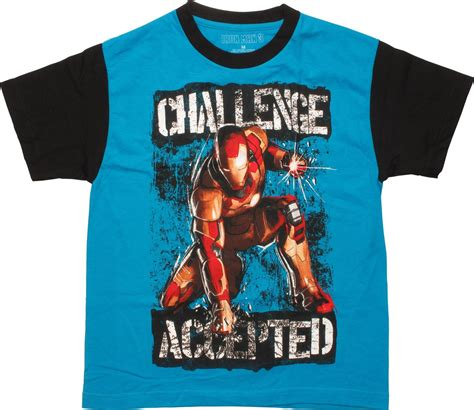 iron challenges iron 3 challenge accepted ringer youth t shirt