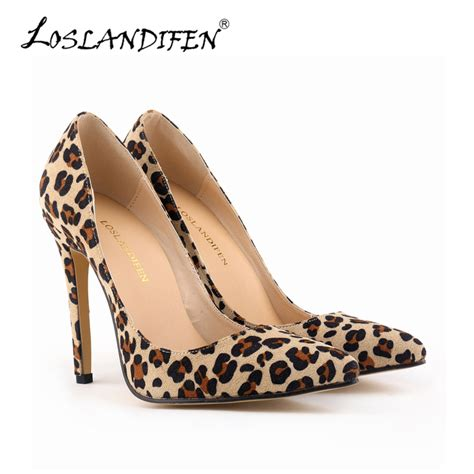 leopard high heels get cheap leopard print heels aliexpress