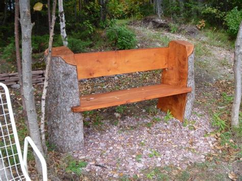 tree stump bench stump bench back yard ideas pinterest